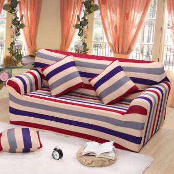 Floral Series Spandex Stretch Fitted Sofa Case Cover For 2 Seaterintl