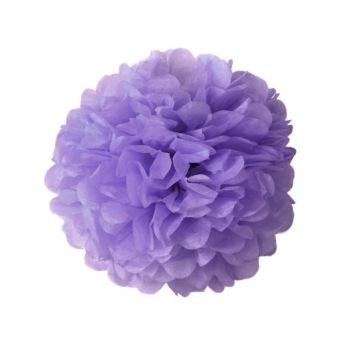Flowers Balls Party Decor 6 Inch (Light Purple)