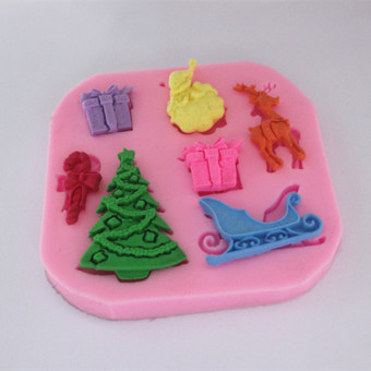Fm291 chocolate sugar lace cake silicone Mold