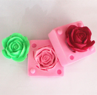 Fm430 chocolate rose combination of sugar silicone Mold