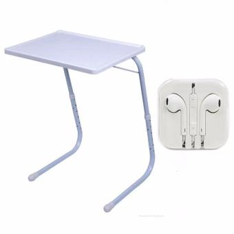 Foldable and Adjustable Multi-Purpose Table Mate 2 (White)with Headset white