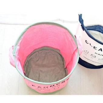 Foldable Linen Cotton Laundry Baskets Storage Basket Dirty BarrelWaterproof Clothes Basket Bra Necktie Socks Storage Box Bag BinsOrganizer 35X40cm - intl - 4