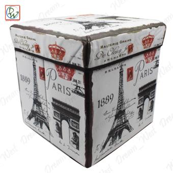 Foldable Ottoman Paris 1889 Storage Box Storage Chair Box