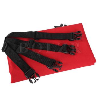 Foldable Pet Dog Cat Car Rear-seat Cover Red