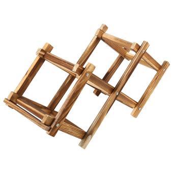 foldable wooden wine rack home bar decor 3 bottles intl - Wooden Wine Rack