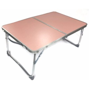 Folding in Half Laptop Computer Table Breakfast in Bed or Office Desk Standing Work Table, Kiddie Table (Pink)