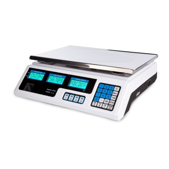 Food Meat Produce Weight Digital Price Computing Scales - 40 kg / 2g - white - LCD Price Philippines