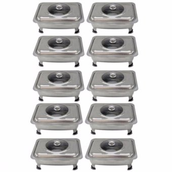 Food Warmer Rectangular Tray Stainless for Catering, Serving ,Events and Party Set of 10
