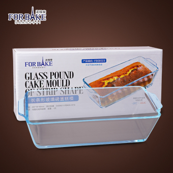 For bake rectangular glass pound cake mold