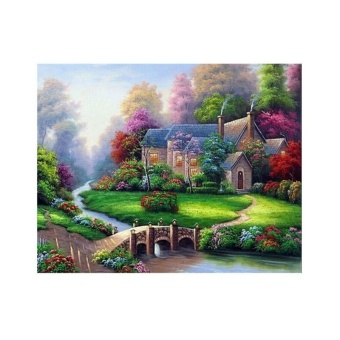 Forest Hut DIY 5D Diamond Embroidery Painting Cross Stitch MosaicHome Decor New - intl