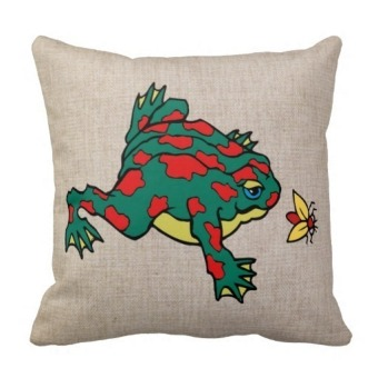 Frog One Side Printing Pillow Case Cover