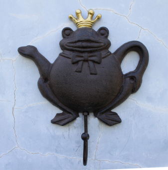 Frog Prince European and American Home Decorative wall hanging wrought iron adhesive hook