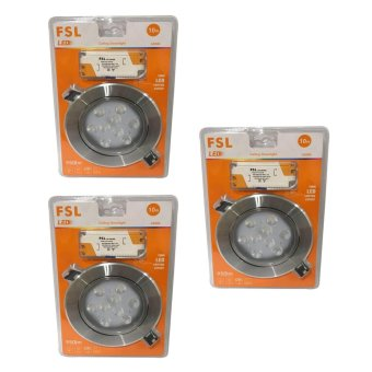 FSL LED Ceiling Downlight 10W Set of 3 (Daylight)