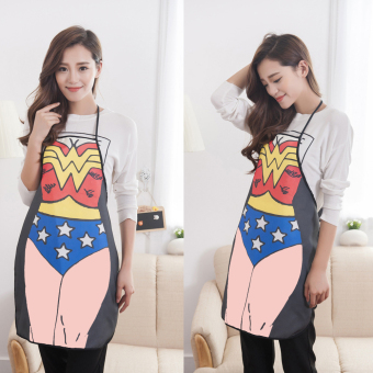 Funny Cooking Kitchen Apron Sexy Dinner Party Apron Wonder Woman - 3