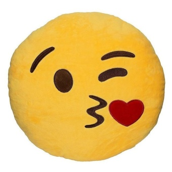 Funny Cute Emoji Pillow Plush Pillow Coussin Cojines Emoji GatoRound Cushion Emoticonos Smiley Pillows Stuffed Plush(Yellow) -intl Price Philippines