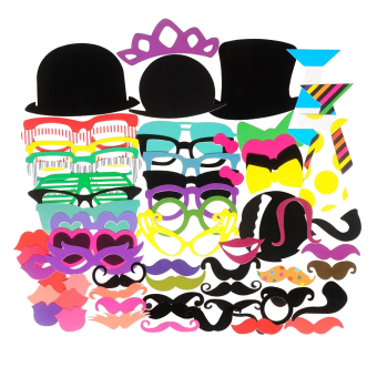 Funny Photo Booth Props Mustache Mask for Wedding / Party / Christmas / Birthday (Multicolor)