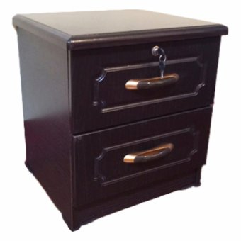 FURNITURE HOUSE - NT002 TWO DRAWER BED-SIDE TABLE (Wenge)