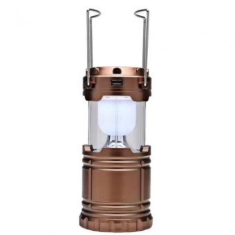 G-85 Solar Led Camping Lamp (Coffee)