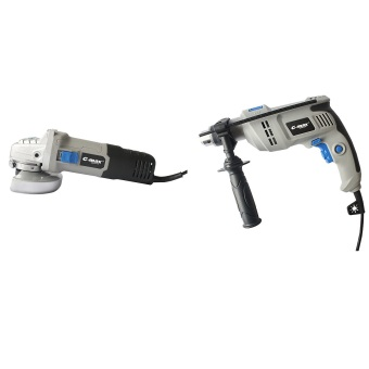 G-max GT-ID600RE 600W Impact Drill (Gray) Plus G-max GT-AG710B 710WAngle Grinder (Gray)