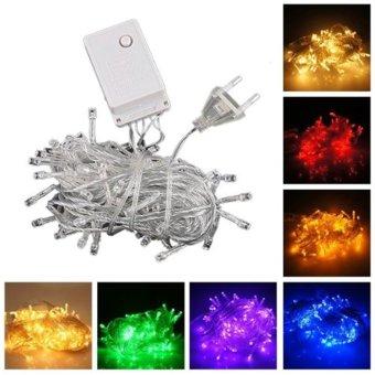 GAKTAI 10M 100 LED Bulb Christmas Fairy Party Deco String Lights Waterproof 220 V EU Plug (Red) (Intl)