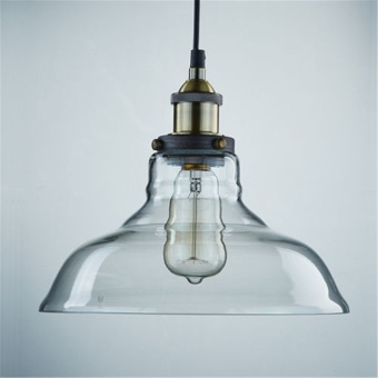 GAKTAI Vintage Glass Lamp Chandelier Antique Ceiling Pendant Light Lampshade Hanging Fixture With a Bulb fixed - intl - 5