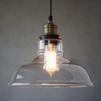 GAKTAI Vintage Glass Lamp Chandelier Antique Ceiling Pendant Light Lampshade Hanging Fixture With a Bulb fixed - intl - 2