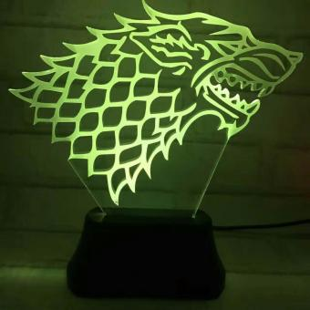 Game of Thrones 3D LED Lamp - 3