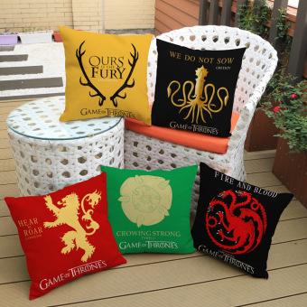 Game of Thrones House Sigils Family Crest Pillow case (Targaryen) - 5