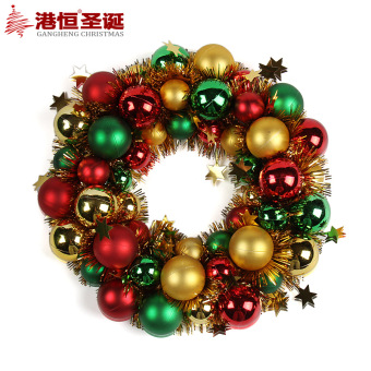 GANGHENG 28 cm/220g ball decorative shop Christmas wreath