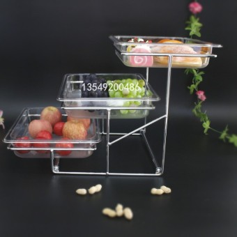 Garbath transparent double layer three layer dessert rack to try to eat dish