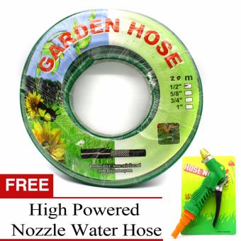 Garden Hose Heavy Duty 20m (66 ft) by 1/2 Inch (Green) WITH FREEHigh Powered Water Hose Nozzle Price Philippines
