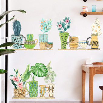 Garden Plants potted Bizhi wall stickers