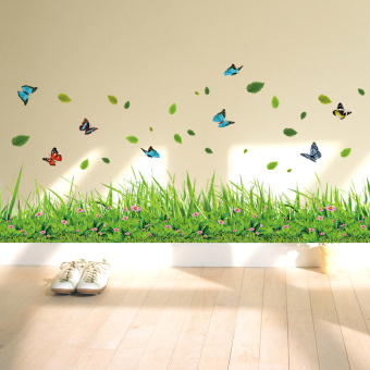 Garden PVC corner decorative wall stickers wall adhesive paper