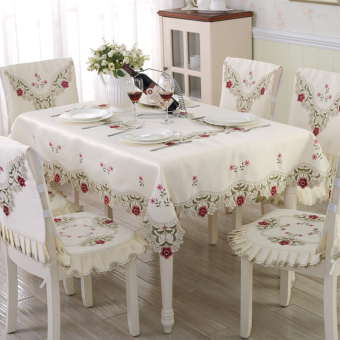 Garden round table sets lace cushion chair cover Fabric