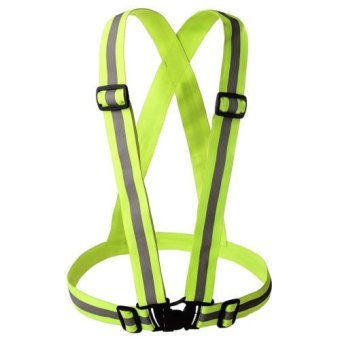 Garterized Safety Vest Reflective (Luminous Green) for cycling,construction, industrial Hi visibilty