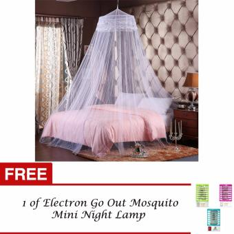 G@Best Mosquito Net Bed Canopy King/Queen Size (Violet) with FREE 1of Electron Go Out Mosquito Mini Night Lamp