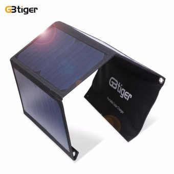 GBtiger 21W Dual USB Portable Sunpower Solar Charger Panel Power Emergency Water Resistant Folding Bag - intl