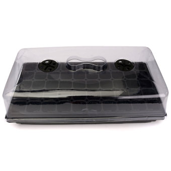 Germination Seed Starter Tray Seed Box Flower Plant Pot For Home Office Decor. - intl