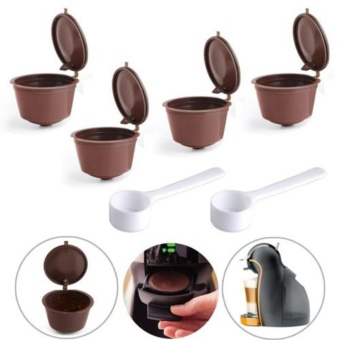 GETEK 4 Reusable Coffee Capsules Cup Filter For Dolce GustoRefillable Brewers Nescafe - intl