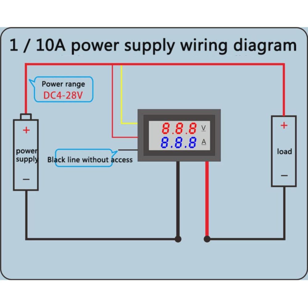 Philippines Getek Dc 100v 10a Voltmeter Ammeter Blue Red Led Digital Display Lcd Panel Amp Volt Meter 100a Dual Digitalvolt Gauge