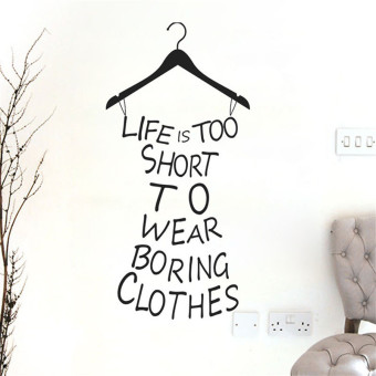 Girl Quote Wall Sticker Decal Home Decor DIY Removable Black Fashion Design