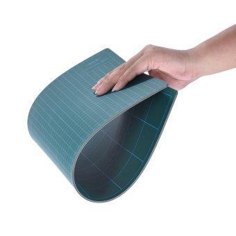 GKS PVC A3 Cutting Mat Manual DIY Tool Cutting Board Double-sidedSelf-healing Cutting Pad 5cm and 1cm Grids Patchwork Tools 30cm *45cm * 3mm Green - intl - 3