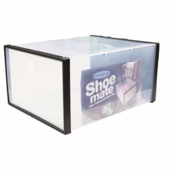 GMY Shoe Mate Clear Collapsible Shoe Box - Large
