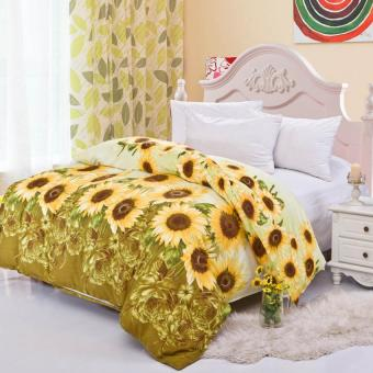 GoGoLife Cotton Home Quilt Cover Single/Full/Queen/King size-28#Sunflower
