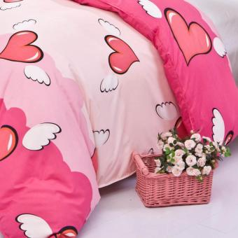 GoGoLife High Quality Duvet/Quilt Cover All Size-26# Pink Heart - 2