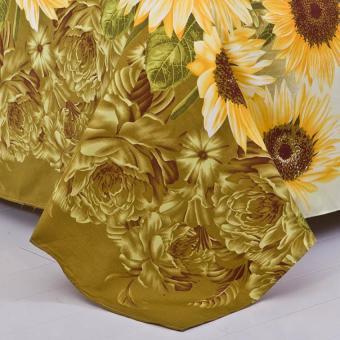 GoGoLife Soft Flat Bed Sheet-38# Sunflower - 5