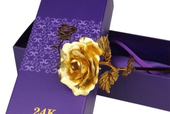 Gold Roses 24k Gold Foil Flowers To Send His Girlfriend BirthdayBirthday Valentine 's Day Gift New Year' S Creative - intl