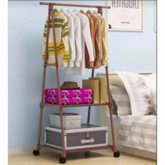 Gonzalez Multipurpose Durable Cloth Rack (Brown)