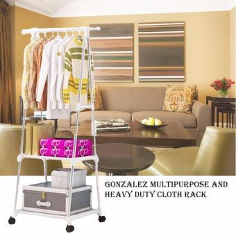Gonzalez Multipurpose Durable Cloth Rack (White)