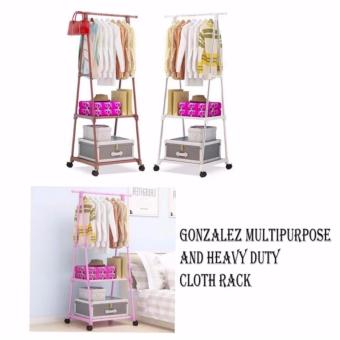 Gonzalez Multipurpose Durable Cloth Rack (White) with High QualitySrew Assemble 4 Layers Stainless Steel Stackable Shoe Rack - 3